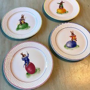NIB Williams-Sonoma Easter Bunny Plate Set (4)